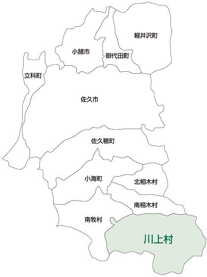 川上村の地図