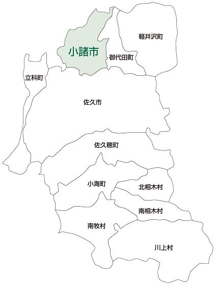 小諸市の地図