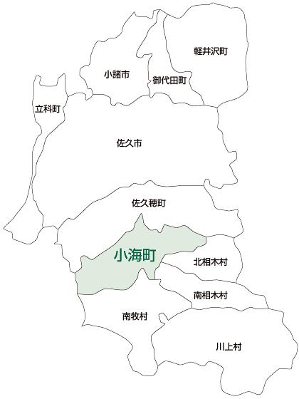 小海町の地図