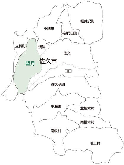 佐久市望月地区の地図