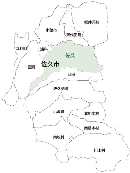 佐久市佐久地区の地図