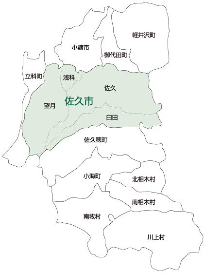 佐久市の地図