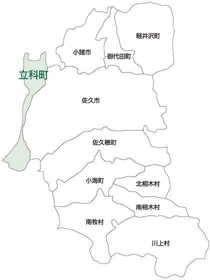 立科町の地図