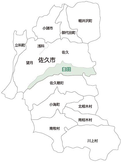 佐久市臼田地区の地図