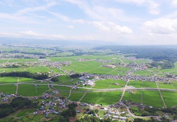 佐久市浅科地区の風景