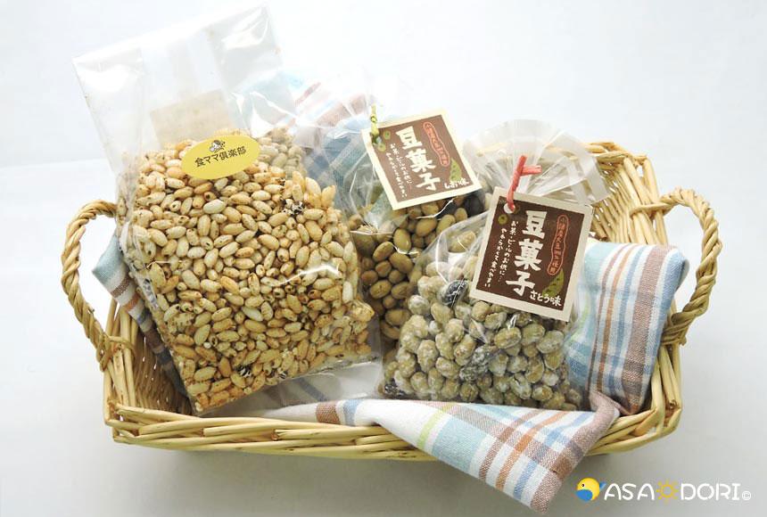 信州雑穀ミックスポン・豆菓子(塩・砂糖)
